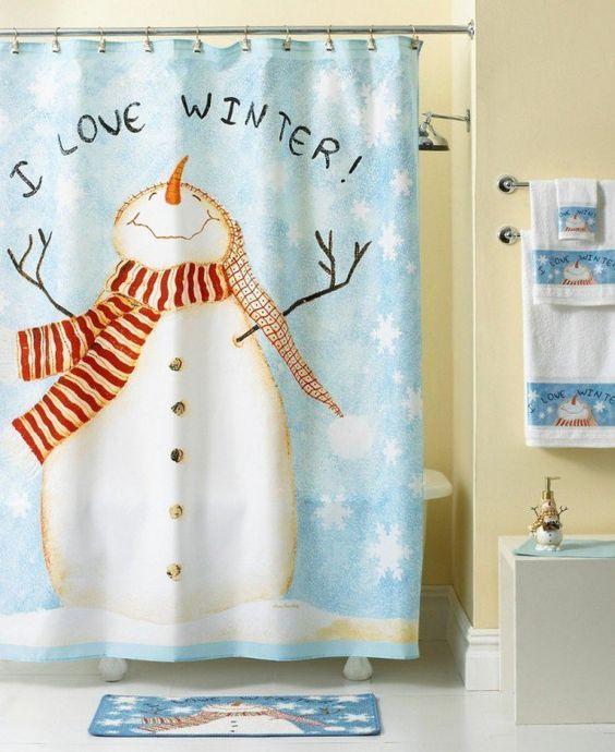 39 best Snowman Bathroom images on Pinterest   Christmas decor ...