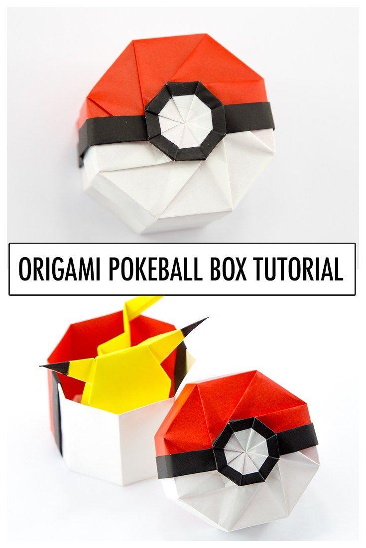 Origami Pokeball Box Tutorial