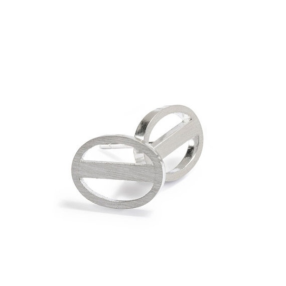 Coffee Bean Studs sterling silver
