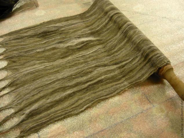 Валяние тончайшего шарфа без дырок - Ярмарка Мастеров - ручная работа, handmade