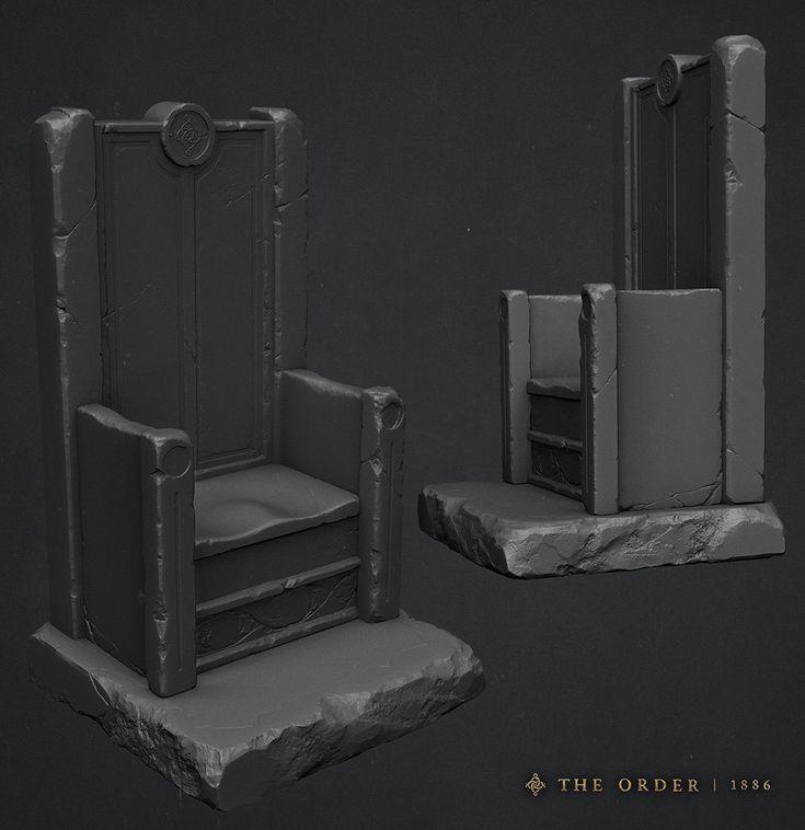ArtStation - The Order 1886 - Throne Sculpt, Hugo Beyer