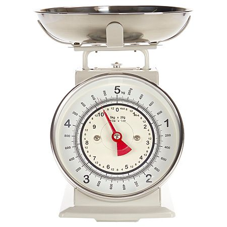 George Home Traditional Kitchen Scales Cream 5kg