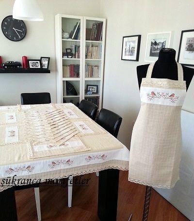 Buldan kumaşından mutfak takımı