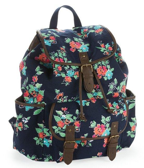 Pretty Backpacks for Teenage Girls | Caitiebug Love: College Backpack Essentials!