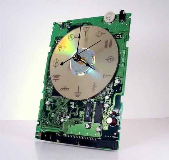 #Recycled motherboard clock.