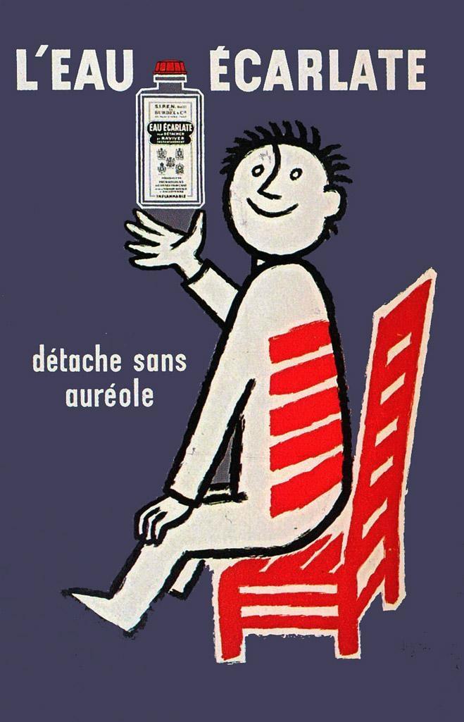 1961  Savignac  L'Eau Ecarlate     Vintage advert   http://defharo.com