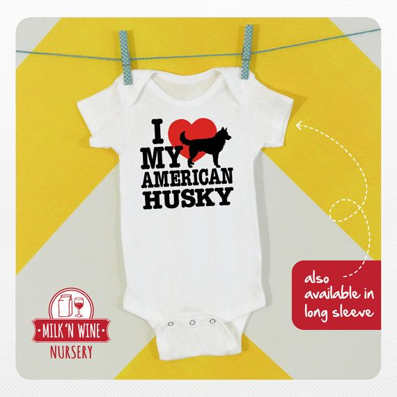 I Love My American Eskimo Husky Onesie® #onesie #american #husky #eskimo #bodysuit #dog #dogs #love #ilovemy #animallover #heart #lover #furbaby #movie #1980 #1990 #1980s #1990s #infant #babyshower #fashion #toddler #shirt #design #illustration #graphicdesign #cute #unisex #costume #baby #clothing #children #etsy #funny #gift #prop #photoshoot #romper #handmade #undershirt