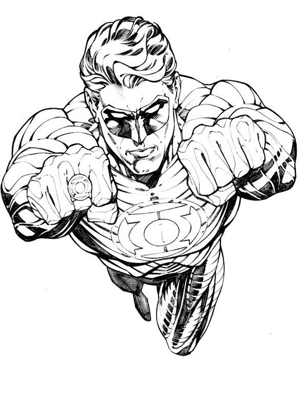 Green Lantern Coloring Pages 8 | Superhero coloring pages ...