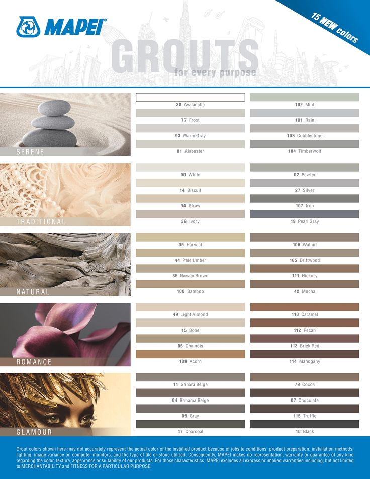 Using Map #106 Walnut and #00 White  for  grout colors