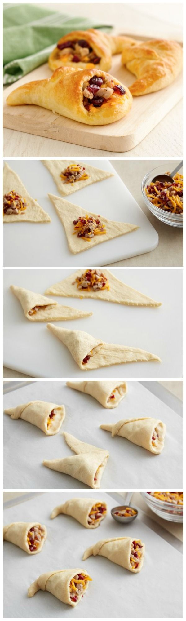 Pillsbury Crescent Cornucopias stuffed with sausage: your new turkey sidekick for Thanksgiving!