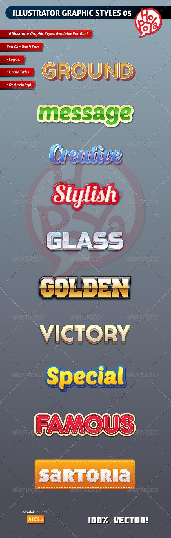 Illustrator Graphic Styles 05