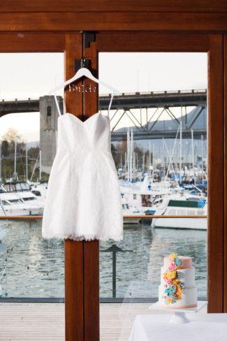 Above the knee wedding dress