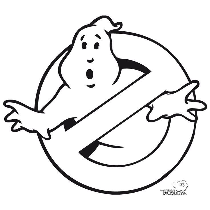 Ghostbusters coloring pages disfraz de logo de for Stay puft coloring page