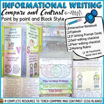 INFORMATIONAL/INFORMATIVE ESSAY WRITING: COMPARE AND CONTR