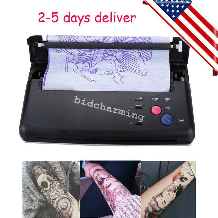 Ups Tattoo Stencil Maker Transfer Machine Flash Thermal Copier Printer Supplies