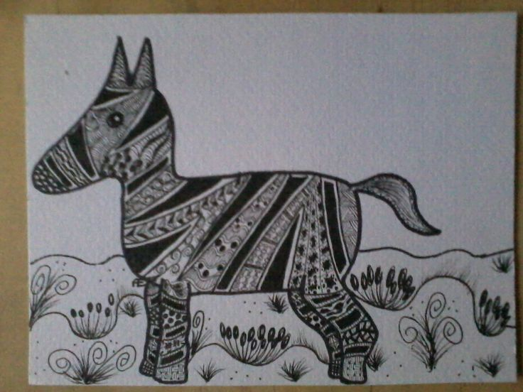 zentangle zebra