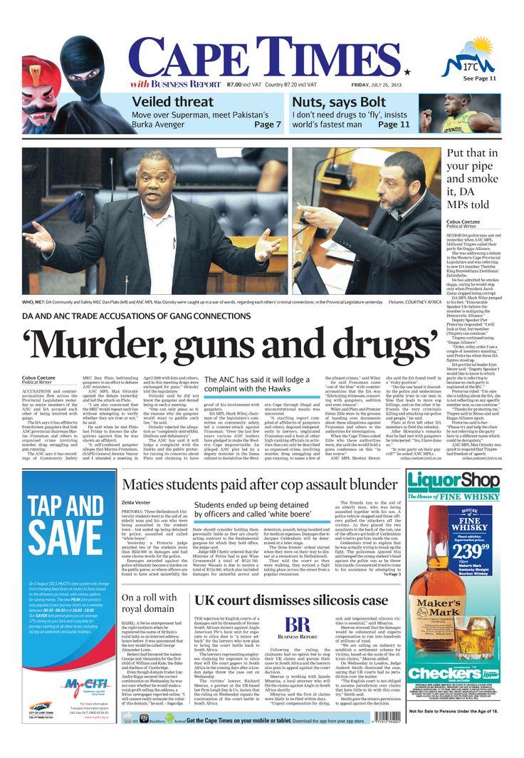 News making headlines: Murder, guns and drugs