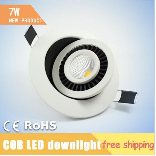 Купить товарИз светодиодов потолок лёгкие, 7 вт 560LM COB круг вращение карданный, Современный из светодиодов потолочные светильники для гостиная, Люстра потолок в категории Потолочные светильникина AliExpress.  7 Вт 560LM удара круглый Поворотный карданного светодиодные светильники Встраиваемые потолочные лампы Lamparas led-де-т