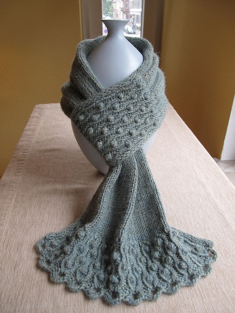 "Pretty Knit Scarf; ""Drifted Pearls"". This is on my Project List."