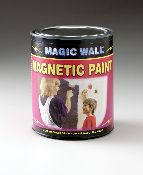 Magnetic Paint Primer - Genius!!! Great for Cluttered refrigerators, Classrooms, Art projects