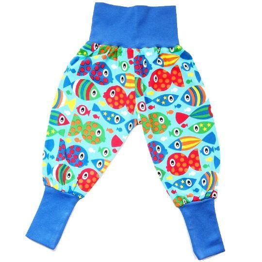 Pantaloni bimbo/a in cotone biologico pesci di Kressina su DaWanda.com