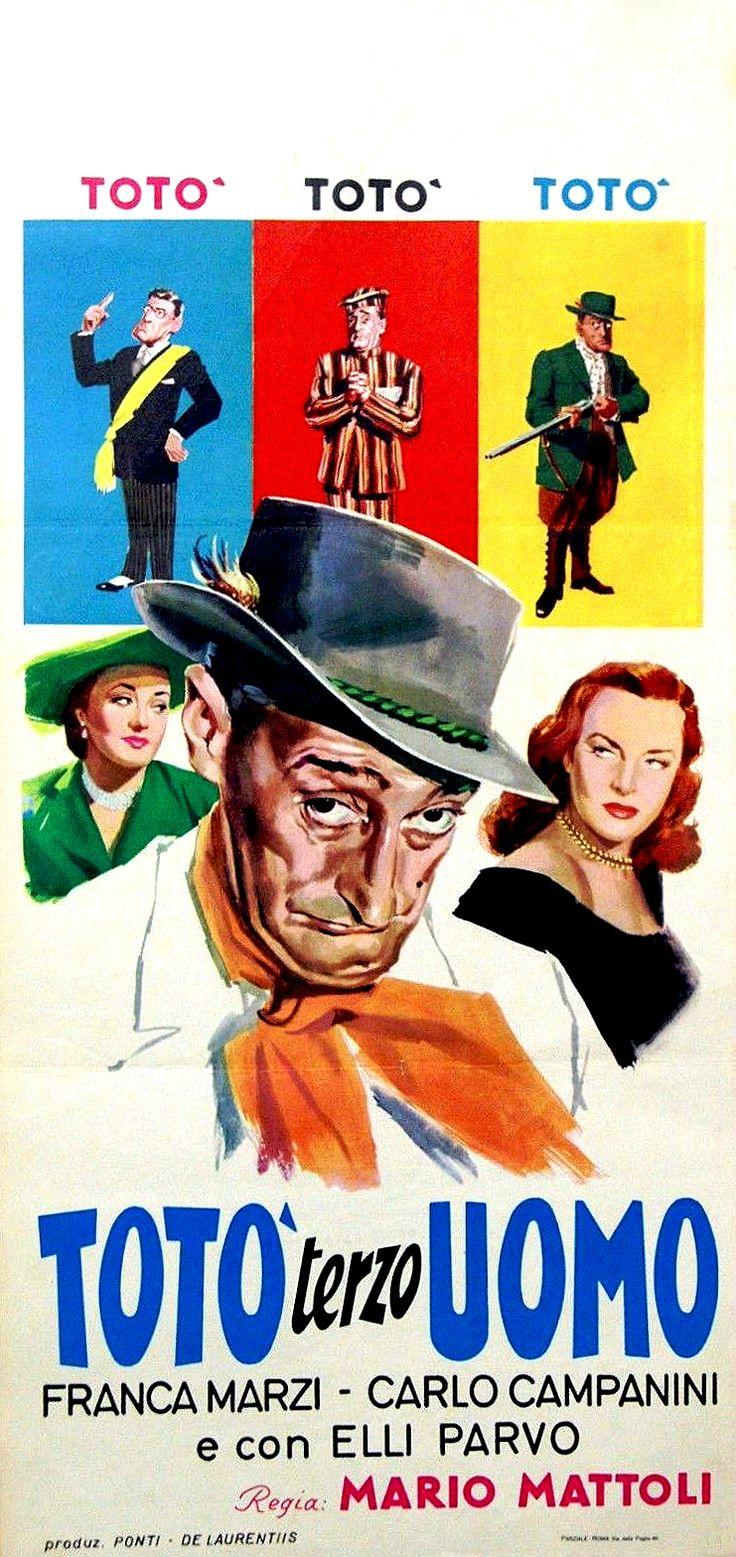 "Mario Mattoli's comedy ""Totò terzo uomo"" (Italian title: ""Totò Third Man"", 1951), starring Totò (Antonio De Curtis) and Franca Marzi."