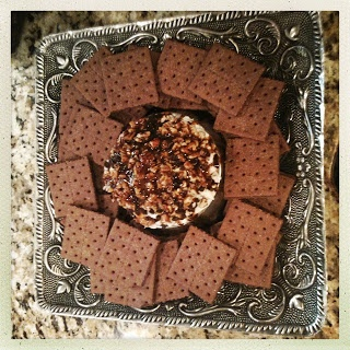 Turtle Cheesecake Ball- Making this and a few other desserts for the Seesters birthday bbq.