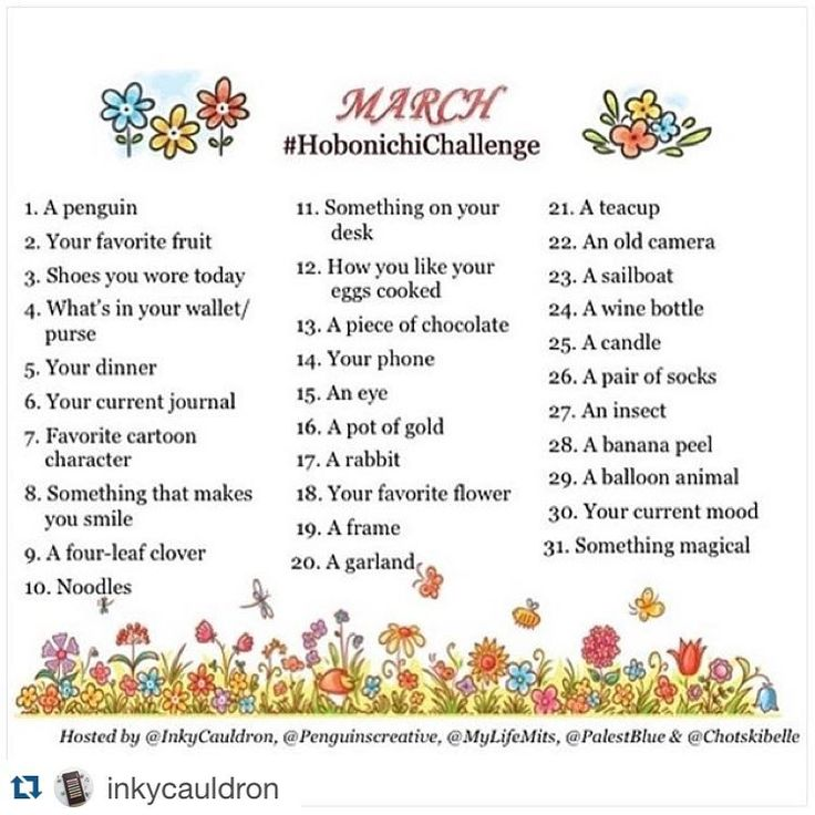 We had such an awesome response to the February #hobonichichallenge we've decided to do it all again for March! Please join us, the hosts @palestblue @mylifemits @chotskibelle @penguinscreative and @inkycauldron as we attempt to take you on a creative journey in your #hobonichi for the month of March! Draw, doodle, jou