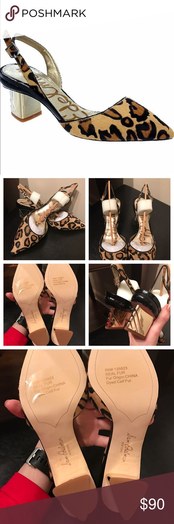 Sam Edelman leopard heel NWTS Brand new in box. Real fur beautiful leopard heels! Make an offer! Sam Edelman Shoes
