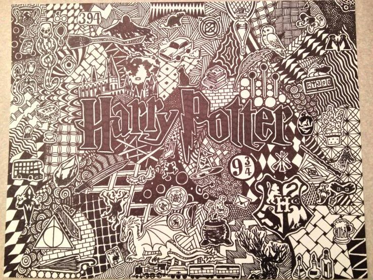 Harry Potter Doodle - from patty_o_furniture on Craftster.org MORE ART, LESS CRAFT