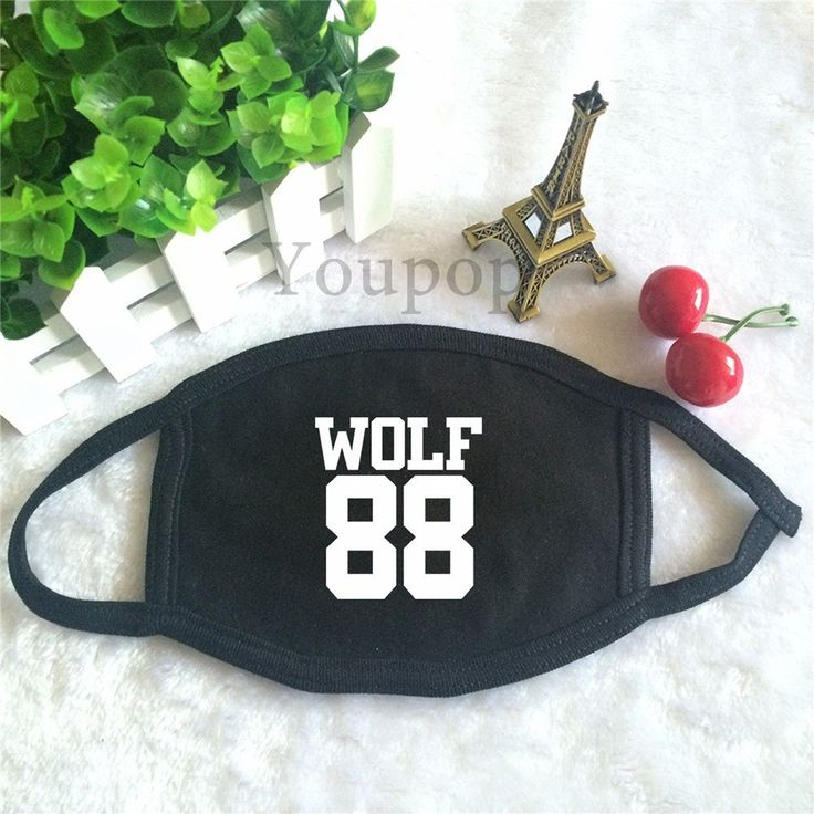 EXO XOXO First Album Wolf 88 Text And Number Single Cool Face Mask #EXO #XOXO #FirstAlbum #Wolf #88 #Text #Number #Single #Cool #Facemask #KidolStuff