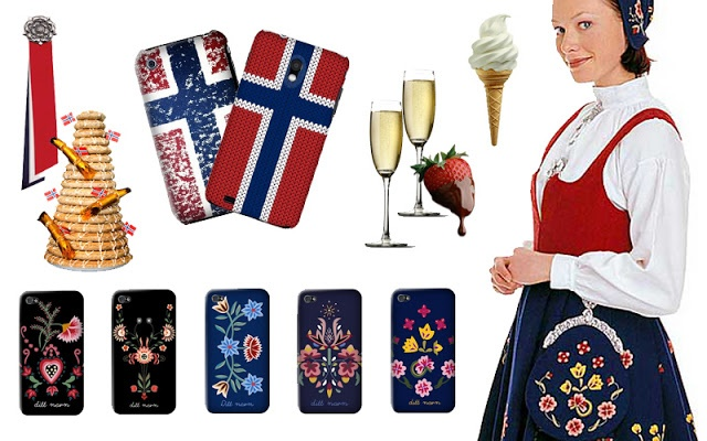 17.mai pynt til telefon! På ønskelista - ja!  17th of may decor for your phone. I want this! :D