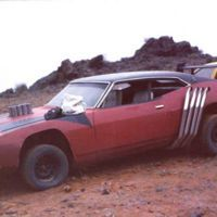"""This marauder vehicle, often referred to as """"Red XA Bat"""" is a heavily modified 1972 Ford Falcon..."""