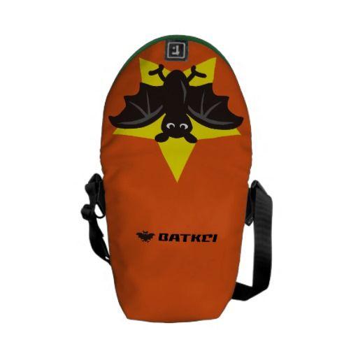 Star Bat Orange Courier Bags by Batkei at Zzzle