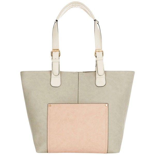 Oasis Suki Shopper Bag , Grey/Multi (5395 RSD) ❤ liked on Polyvore featuring bags, handbags, oasis handbags, hand bags, shopper tote bag, shopper handbag and shopper tote handbags