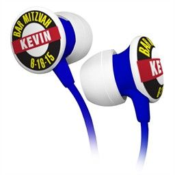 Bar Mitzvah Earbud Favors Personalized