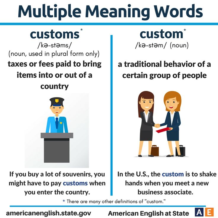 Multiple Meaning Words: Custom