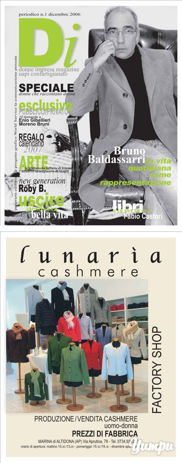 BRUNO BALDASSARRI by DONNA IMPRESA MAGAZINE N.1 2006 - Magazine with 68 pages:
