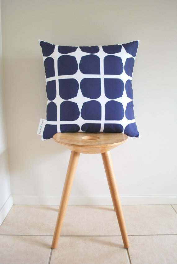 navy cushion with style