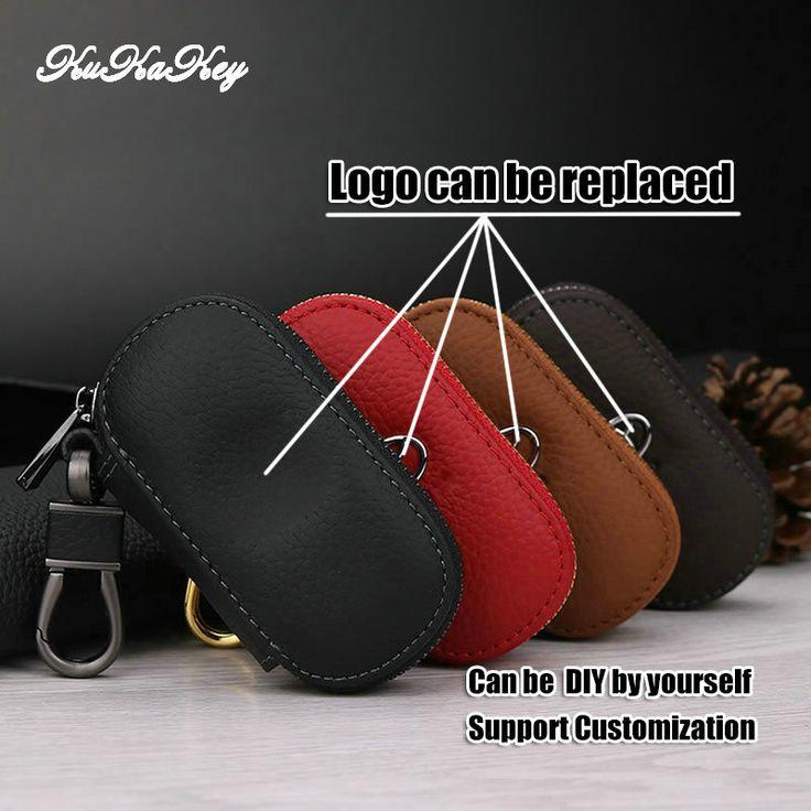 Auto Key Bag Case Car Logo Key Holder For Toyota Avensis Corolla Prius Camry Vitz RAV4 Yaris Genuiner leather Key Rings Cover #Affiliate
