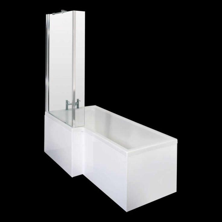 Duschbadewanne Linksbündig  mit Duschwand 850 x 1700 - Image 1 hudson reed