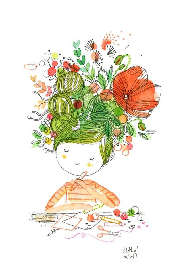 Créative Cette poupée aux doigts de fée et aux mille idées est partie rejoindre la collection de boutons de Clélia ! ...