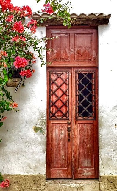 This door, Santo Domingo, Dominican Republic seems to have openable interior shutters