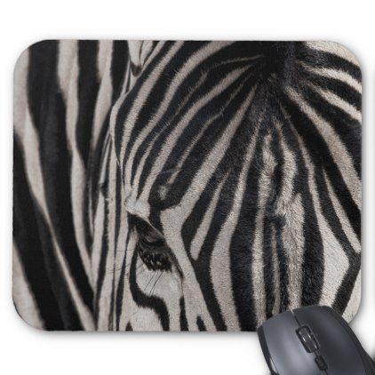 A Plains Zebra    Etosha National Park Mouse Pad - plain gifts style diy cyo