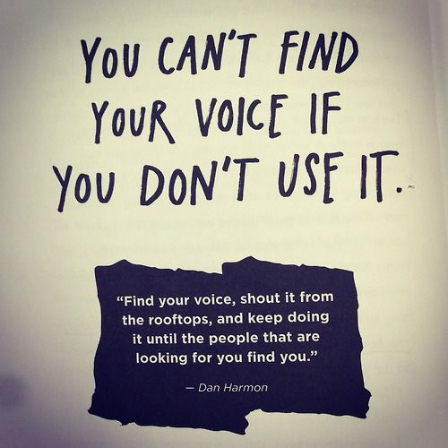 Friendly Find For Your Job Search: You Can't Find Your Voice If You Don't Use It. Http