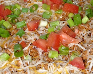Taco Pizza- Perfect for large dinners or parties and easy to make in 30 minutes