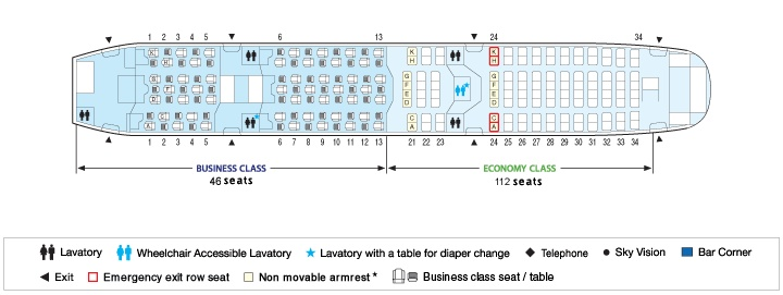 Boeing 787 Ana All Nippon Airways Seating Chart Ana All