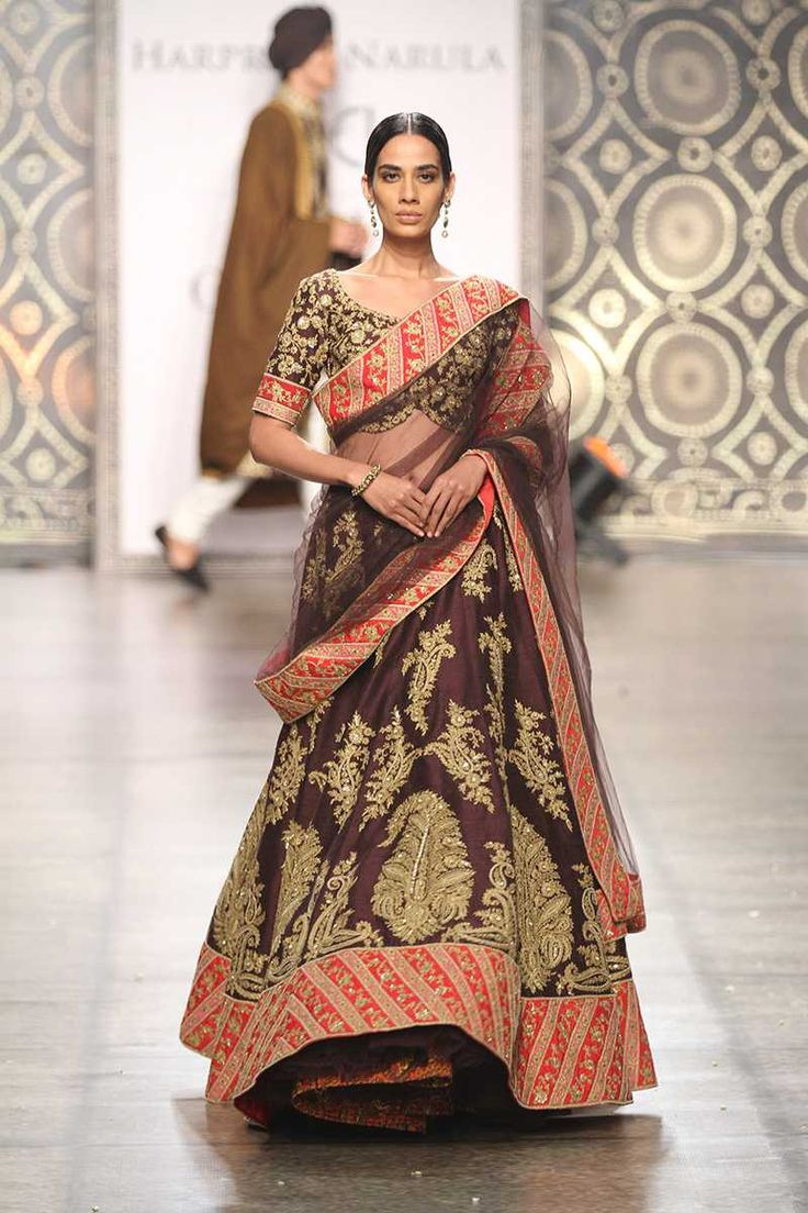 By designer Rimple and Harpreet Narula. Shop for your wedding trousseau, with a personal shopper & stylist in India - Bridelan, visit our website www.bridelan.com #Bridelan #weddinglehenga #RimpleandHarpreetNarula #IndiaCoutureWeek2016
