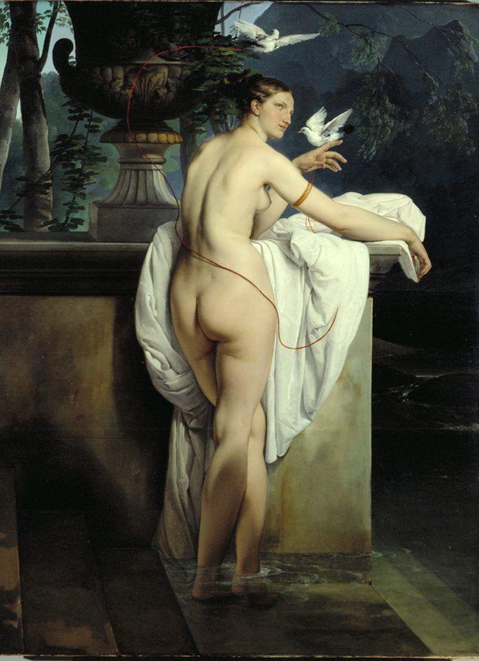 Un bel dipinto di Francesco Hayez realizzato nel 1830 e che oggi è possibile ammirare al MART di Rovereto: Ritratto di Carlotta Chabert come Venere. Per saperne di più: http://www.finestresullarte.info/operadelgiorno/2013/95-francesco-hayez-ritratto-di-carlotta-chabert-come-venere.php