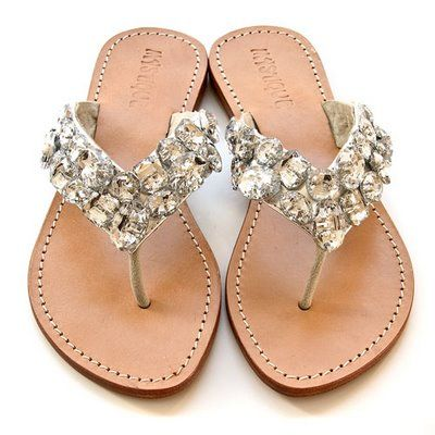 Bling sandals - thong!  Every girly-girl should have a cute pair of flat, thong flip-flops!